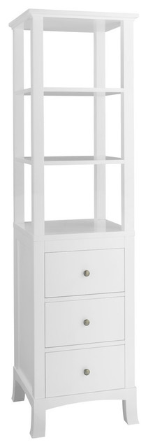 Lore Linen Storage Tower, White.