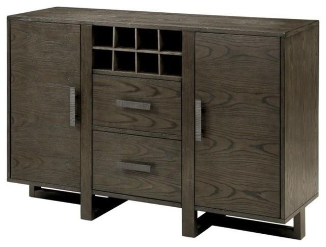 Furniture Of America Eris I Wine Rack Buffet Weathered
