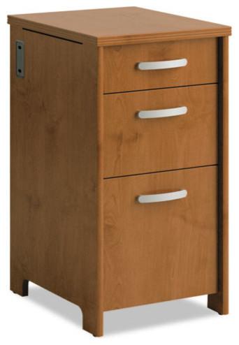 "Envoy Series 3-Drawer Pedestal, 16""x20""x30 1/4"", Hansen Cherry - Contemporary - Filing Cabinets ..."