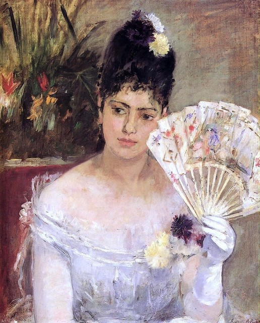 Berthe Morisot At The Ball Gallery Wrapped Canvas Print