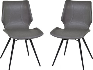 Zurich Dining Chairs, Set of 2, Vintage Gray