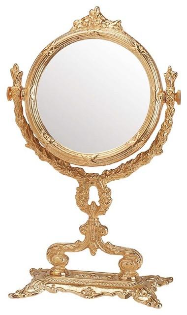 Victorian Antique Vanity Mirror Cast Brass 12 1 4 H Victorian