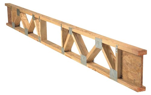 Stair landing area and floor trusses for Web floor truss