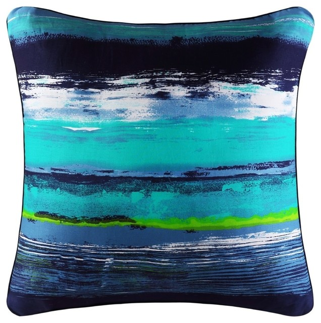 """Cameron Square Pillow, Teal, 18""""."""