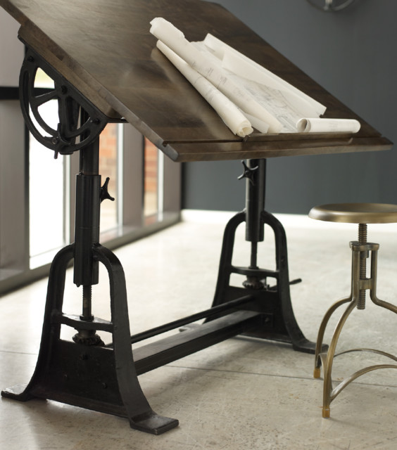 French Architect Drafting Table Traditional Drafting