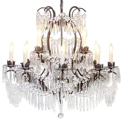 Crystal And Iron Chandeliers: Wrought Iron Crystal Chandelier traditional-chandeliers,Lighting