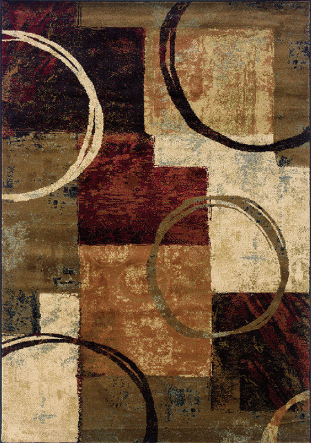 Sphinx Hudson 2544B Brown, Black Area Rug contemporary-area-rugs