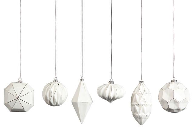 Geo glass ornaments piece set contemporary