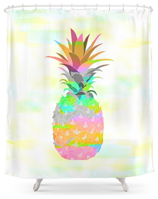 Pineapple Shower Curtain Tropical Shower Curtains By Society6