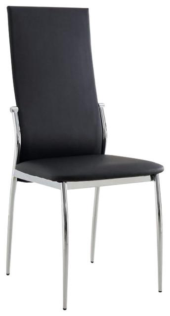 Kalawao Side Chair, Black Finish, Set of 2 by Benjara