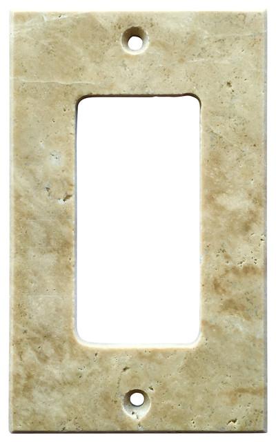 Beau Light Walnut Travertine Switch Plate Cover Rocker, ...