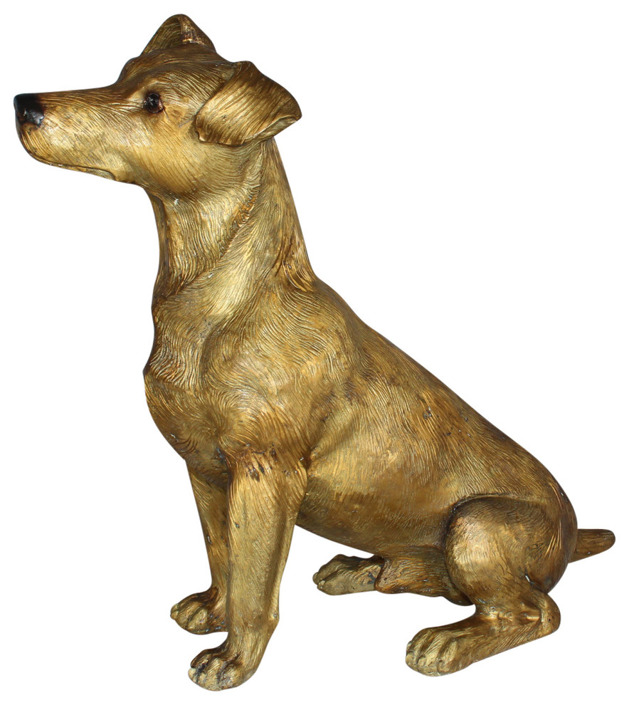 Jack Russell Dog Bronze Statue Size 22 L X 8 W X 20 H Contemporary Decorative Objects And Figurines By Fine Arts Outlet