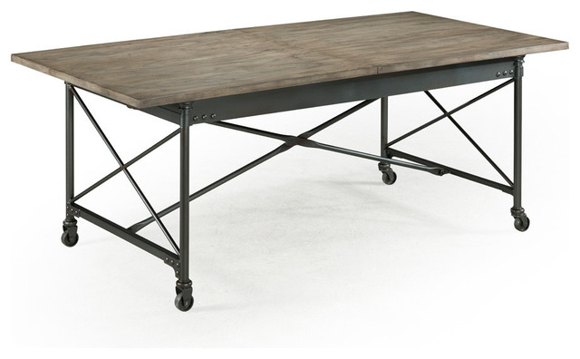 dining table natural distressing finish industrial dining tables