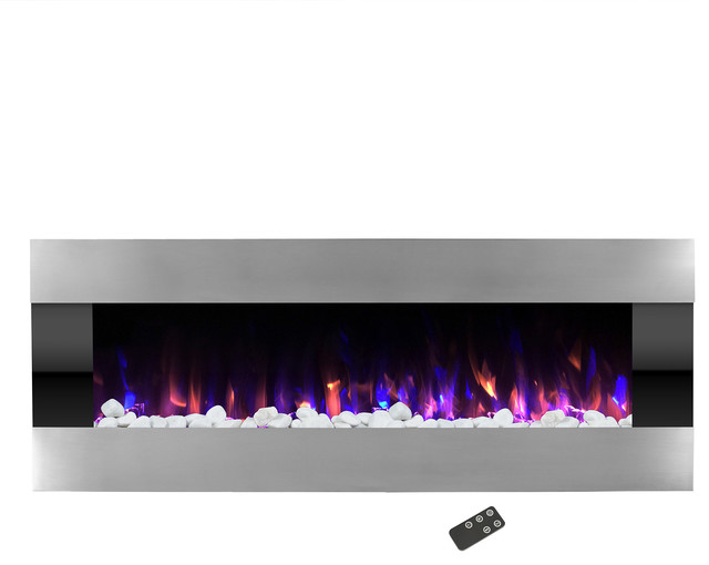 Electric Led Fireplace, Wall Mounted, Adjustable Heat, 54 By Northwest.