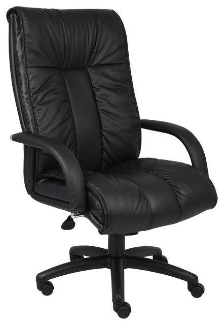 Boss Italian Leather High Back Executive Chair With Knee Tilt.