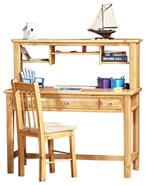 3 Drawer Student Desk With Hutch Caramel 3534542 C Chair Sold Separately Transitional Kids