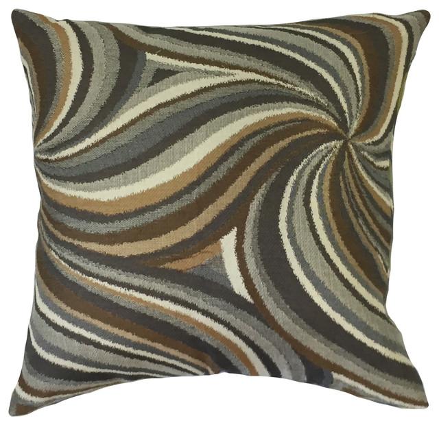"Xarissa Graphic Down Filled Throw Pillow, Amber, 20""x20"""