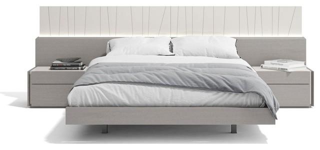 Porto Premium 3 Piece Bedroom Set Grey King Modern Bedroom Furniture Sets By Bedtimenyc Houzz