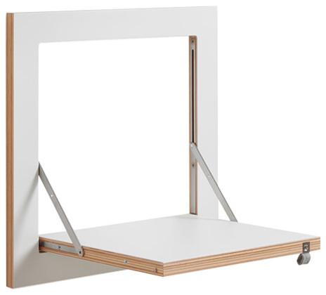 Fläpps Square Small Plywood Shelf, White