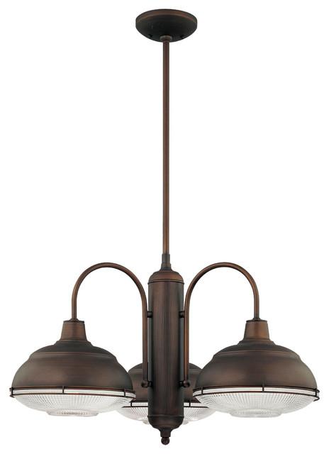 Millennium Lighting Neo-Industrial Chandelier, Rubbed Bronze