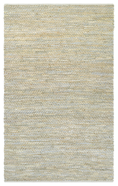 Couristan Nature&x27;s Elements Clouds Area Rug, Ivory-Oatmeal-Sky Blue, 6&x27;x9&x27;.