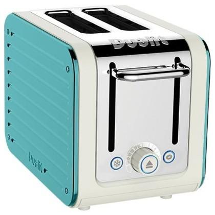 Dualit Architect 2 Slots Body With Panel Toaster, Canvas/Azure Blue