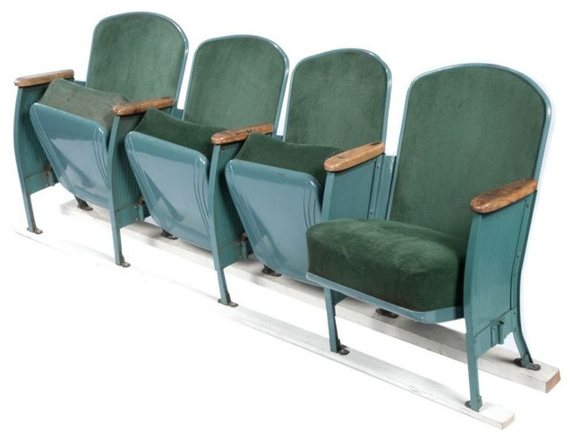 Vintage Velvet Theater Seats in Forest Green - $1,480 Est. Retail - - SOLD OUT! Vintage Velvet Theater Seats In Forest Green - $1,480