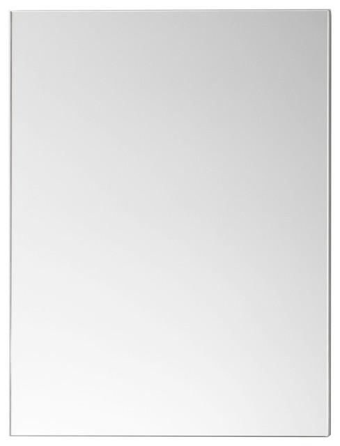 Ronbow Contemporary Metal Framed Bathroom Mirror Brushed Nickel 24x30