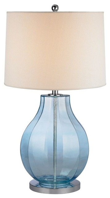 Dimond Lighting D2631 Sea Glass Table Lamp, Translucent Light Blue Beach  Style Table