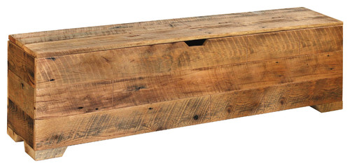 Blanket Trunk, Reclaimed Barn Wood Chest, Entry Way Storage Bench, King