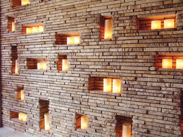 Stone Candle Wall Coronado Strip Veneer Contemporary Las Vegas By