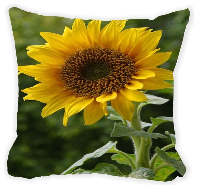 Decorative Pillows With Sunflowers : Large Sunflower Microfiber Throw Pillow - Farmhouse - Decorative Pillows - by Rikki Knight LLC