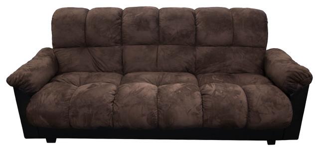 London Storage Futon Sofa Bed With Champion Fabric, Charcoal.