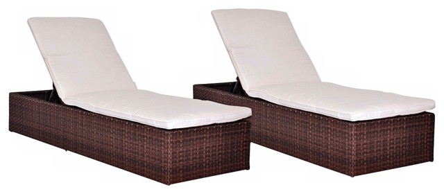 Swell Oxford 2 Piece Wicker Patio Lounger Set With Off White Cushions Alphanode Cool Chair Designs And Ideas Alphanodeonline
