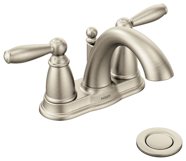 Moen Traditional Bathroom Faucet: Moen Brantford 2-Handle High Arc Bathroom Faucet