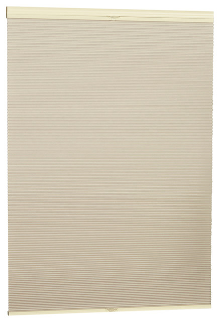 "Top Down Bottom Up Blackout Cellular Shade, Natural, 38""x64""."