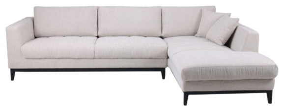 Nickel Fabric Sectional, Right.