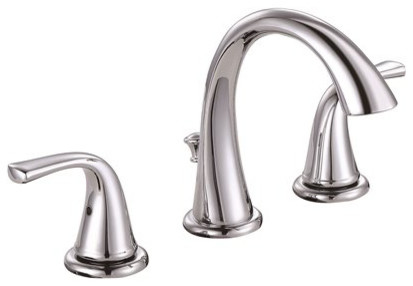 Premier Creswell 2 Handle Widespread Bathroom Faucet, Pop Up