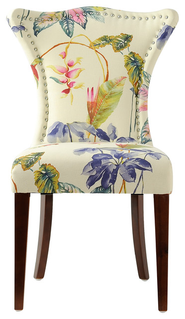 Paradise Upholstered Chair, Multicolored.