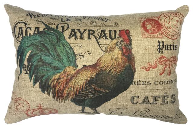 Chickens Linen Pillow.