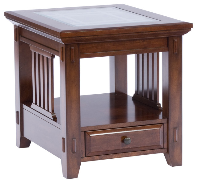 Broyhill Vantana Rectangular End Table Craftsman Side Tables And End Tables