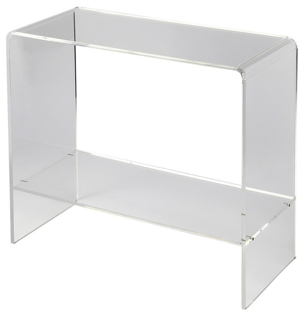 Butler Crystal Clear Acrylic Console Table Contemporary