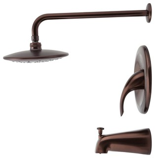 750 3 Piece Rain Head Shower Set Contemporary Tub And Shower Faucet Sets By Mr Direct