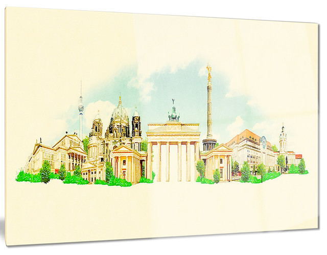 design art usa berlin panoramic view cityscape. Black Bedroom Furniture Sets. Home Design Ideas