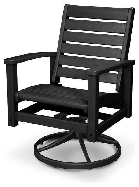 ivy terrace artisan swivel chair textured black contemporary patio furniture and black outdoor balcony furniture