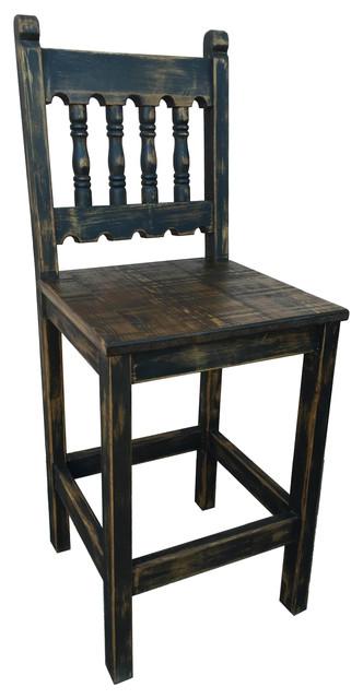 Tenampa Rustic Bar Stool Old Black Counter Height