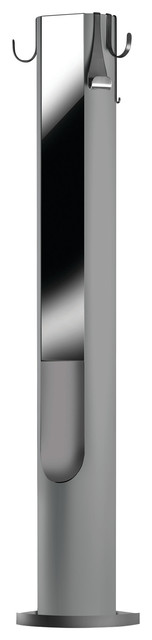 Totem Coat Stand by Joe Colombo, Silver