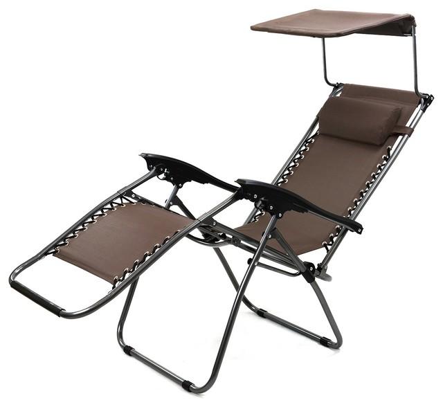 Brilliant Zero Gravity Lounge Chair Canopy Sun Shade Garden Patio Outdoor W Cup Holder Inzonedesignstudio Interior Chair Design Inzonedesignstudiocom