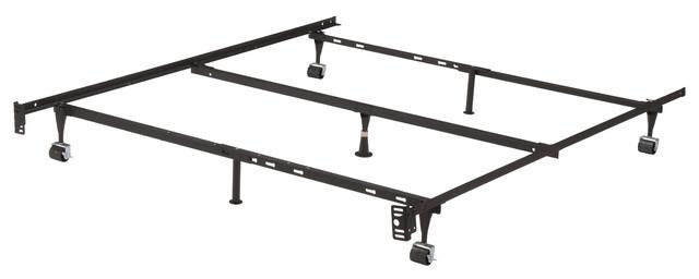 Holliday Metal Adjustable Bed Frame With Locking Wheels.