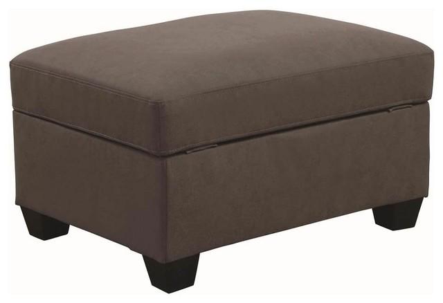 Terrific Coaster Powell Transitional Beige Storage Ottoman Cjindustries Chair Design For Home Cjindustriesco